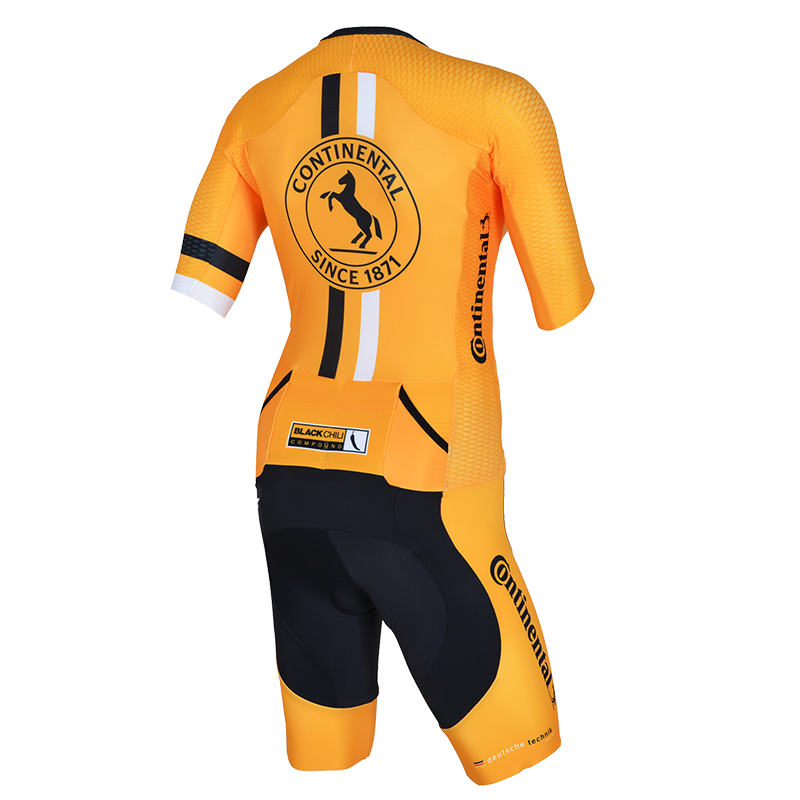 Continental Trisuit gold women rear